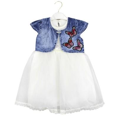 Платье с болеро (2-5) Белый
