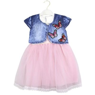 Платье с болеро (2-5) Розовый