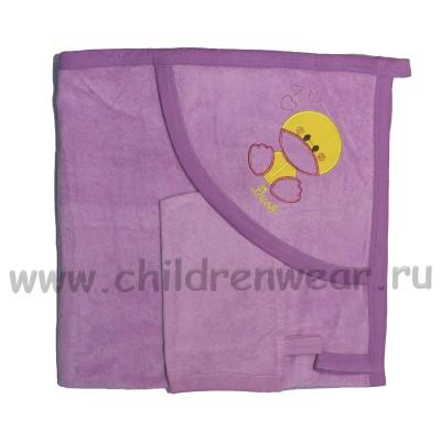 Детский конверт уголок с рукавицей